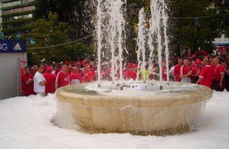 Пивной фонтан появился в Словении