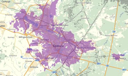 Зона покрытия 4G Мегафон в брянской области