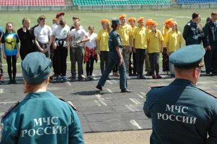 В Ангарске открылась военно-спортивная игра «Орленок»