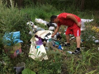 В Усольском районе пресекли несанкционированную свалку мусора