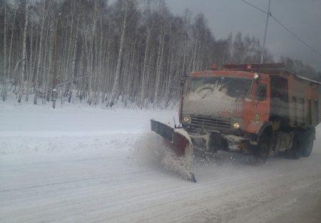 Техника Дорожной службы Иркутской области все праздничные дни работала на дорогах региона