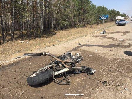 В Иркутской области полиция устанавливает обстоятельства гибели мотоциклиста