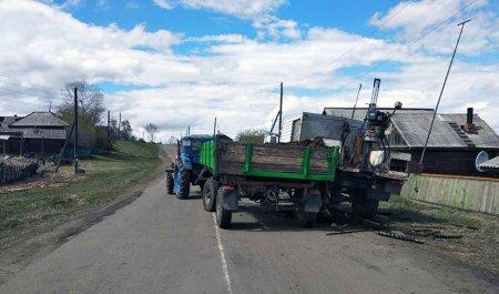 В Нижнеудинском районе нетрезвый тракторист привлечён к ответственности за столкновение с грузовиком