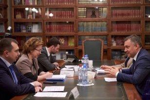Губернатор Игорь Кобзев и замминистра культуры РФ Ольга Ярилова провели рабочую встречу в Москве