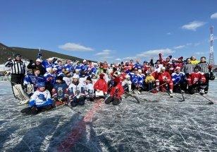 Звезды хоккея с шайбой провели матч на льду Байкала
